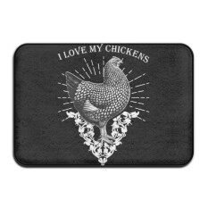 I Love My Running Chickens Doormatnicepersonalized Door Ma Indoor Door Matsdesign Ma 4060