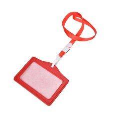 ID Name Card Holder Case Badge Lanyard Neck Strap Necklace Strap Red - intl