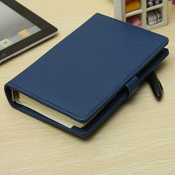 Identity Dairy Personal Planner Organiser Leather Hook Note Book Filofax Gift Blue By Adrian Store.