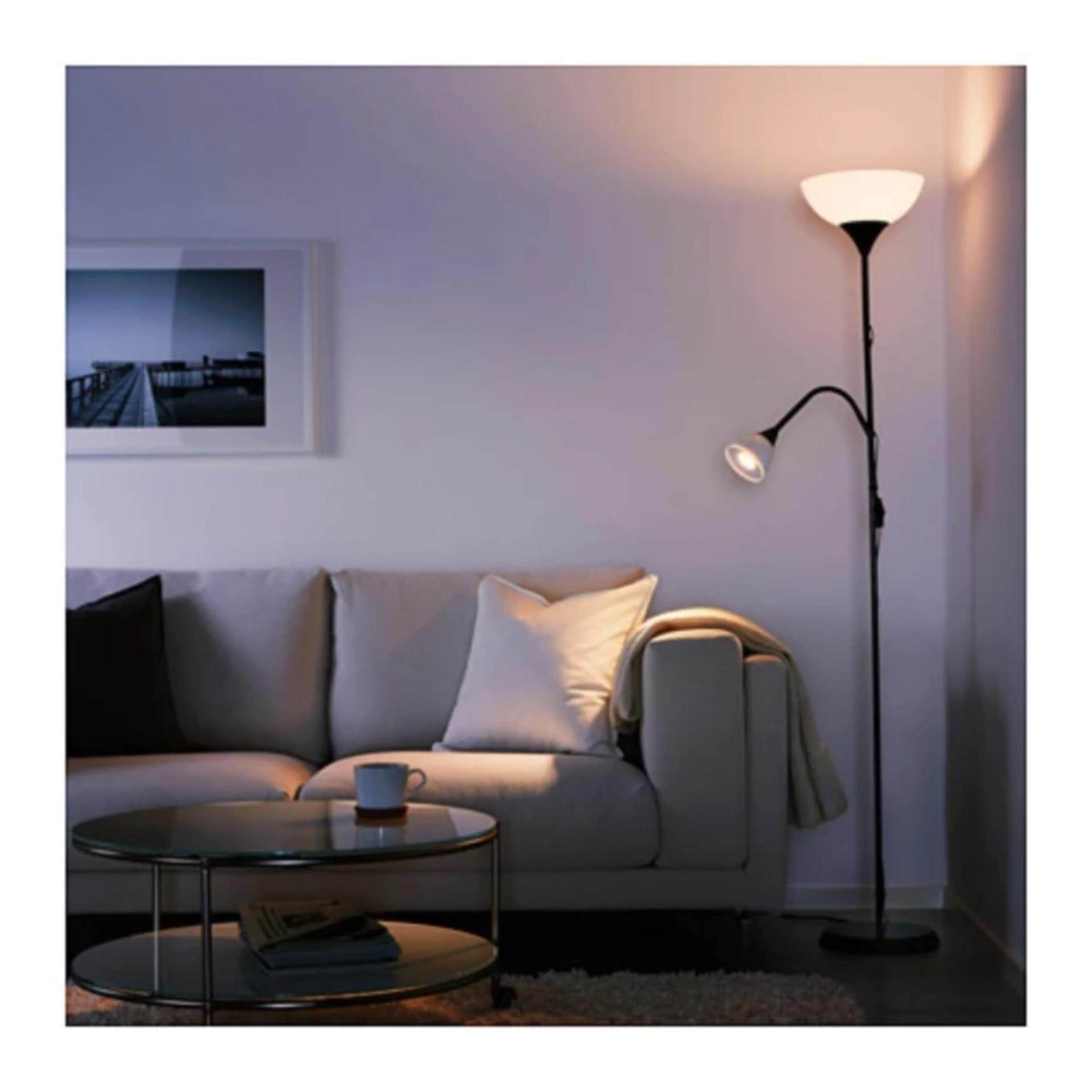 IKEA Floor Lamp lighter/reading lamp, black, white (Black) - intl