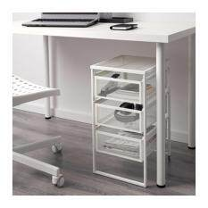 black and white office. ikea lennart office home drawer unit white