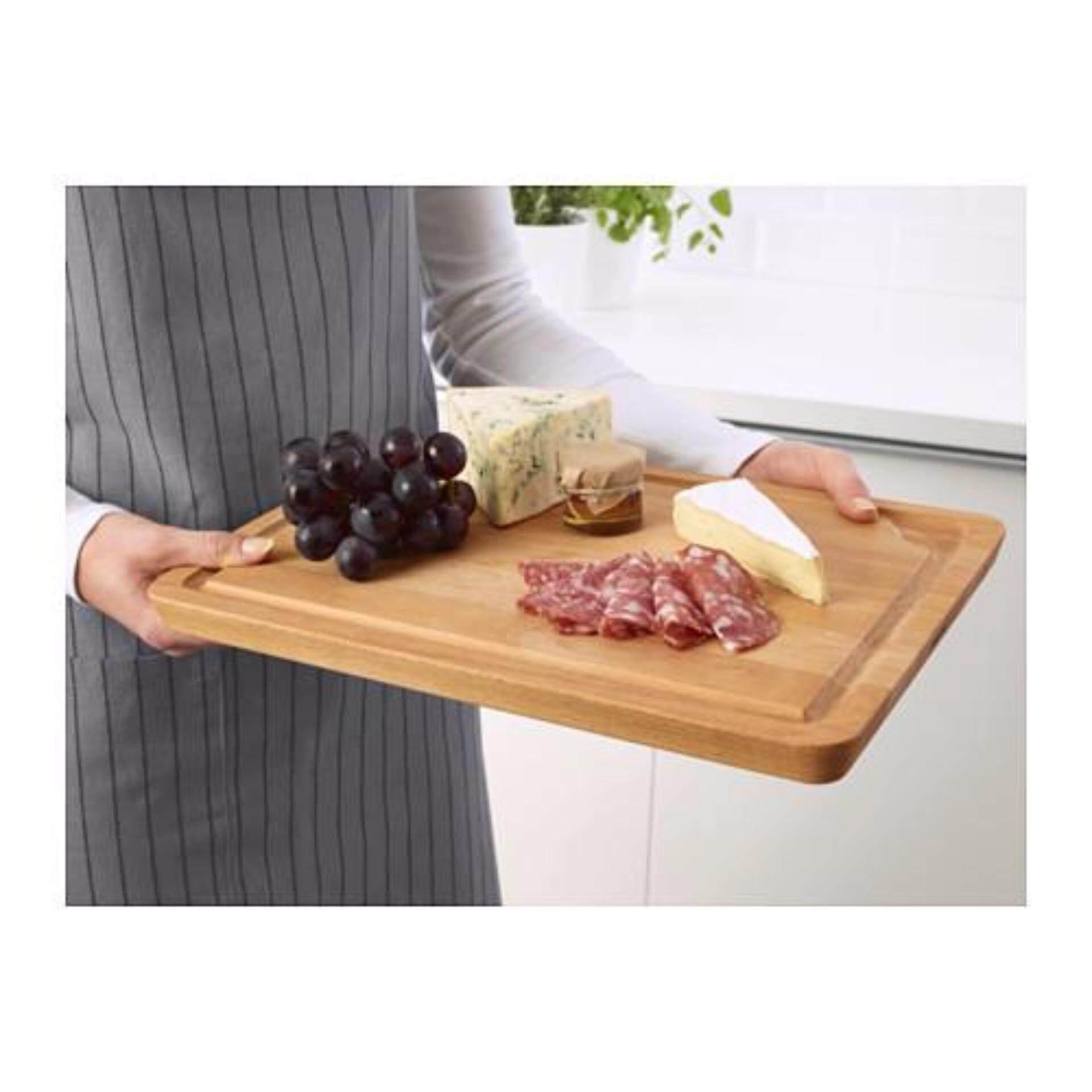 Ikea Multi Purpose Solid Wood Food Serving Tray Chopping Board 38x27 Cm