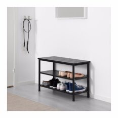 IKEA Pinnig Shoes Rack, Shoes Organizer, Shoes Shelf with Bench Seat (Black)