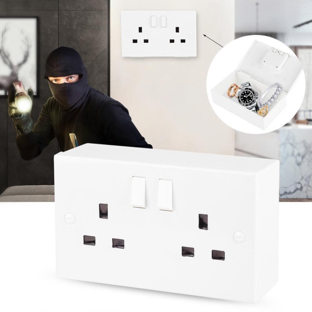Imitation Wall Socket Safe Box Secret Security Boxes for Valuables Money Jewelry (UK Type) - intl