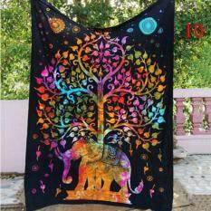 Indian Colorful Printed Mandala Beach Tapestry Bohemia Blanket(Color:10,Size:XL)