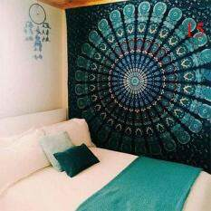 Indian Colorful Printed Mandala Beach Tapestry Bohemia Blanket(Color:15,Size:L)