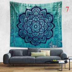 Indian Colorful Printed Mandala Beach Tapestry Bohemia Blanket(Color:7,Size:M)