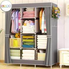 INICIO: King Sized Curtain Wardrobe Design [Grey]