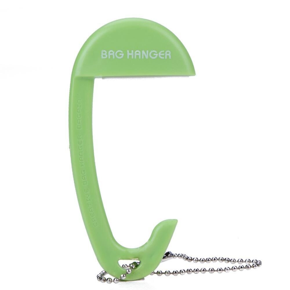 Newlifestyle Innovative Bag Buckle Device Table Portable Can Hang 15kg Hook(Green) - intl(Green)