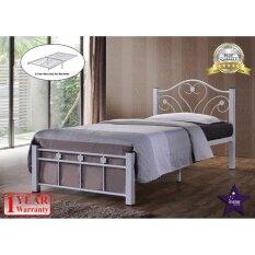 Instar Design Angel Single Metal Bed Frame White