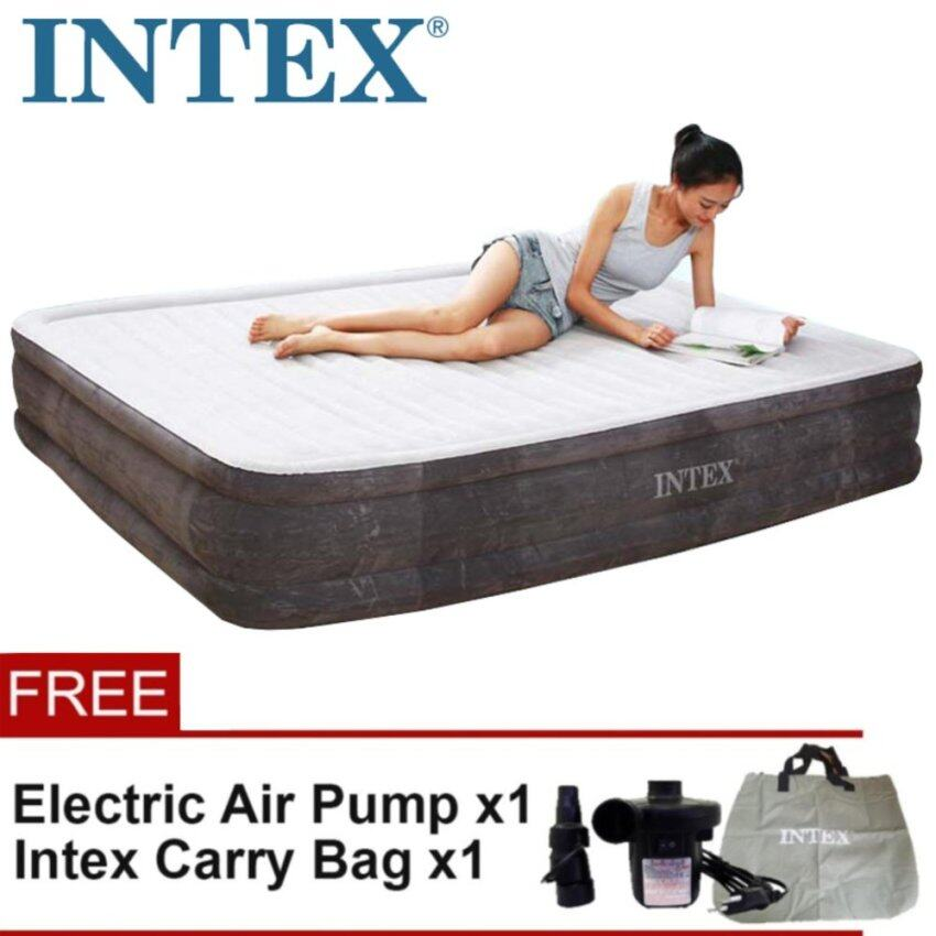 AirTop INTEX 68757 0.99 Meter Inflatable Air Bed Mattress Single Size With 2-in-1 Valve For Fast Inflating And Deflating