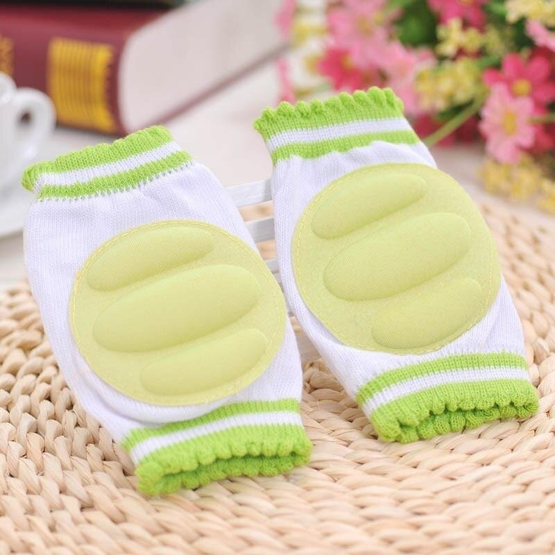 1Pair Baby Knee Pads Crawling Elbow Cushion Baby Childish Knee Protector Green