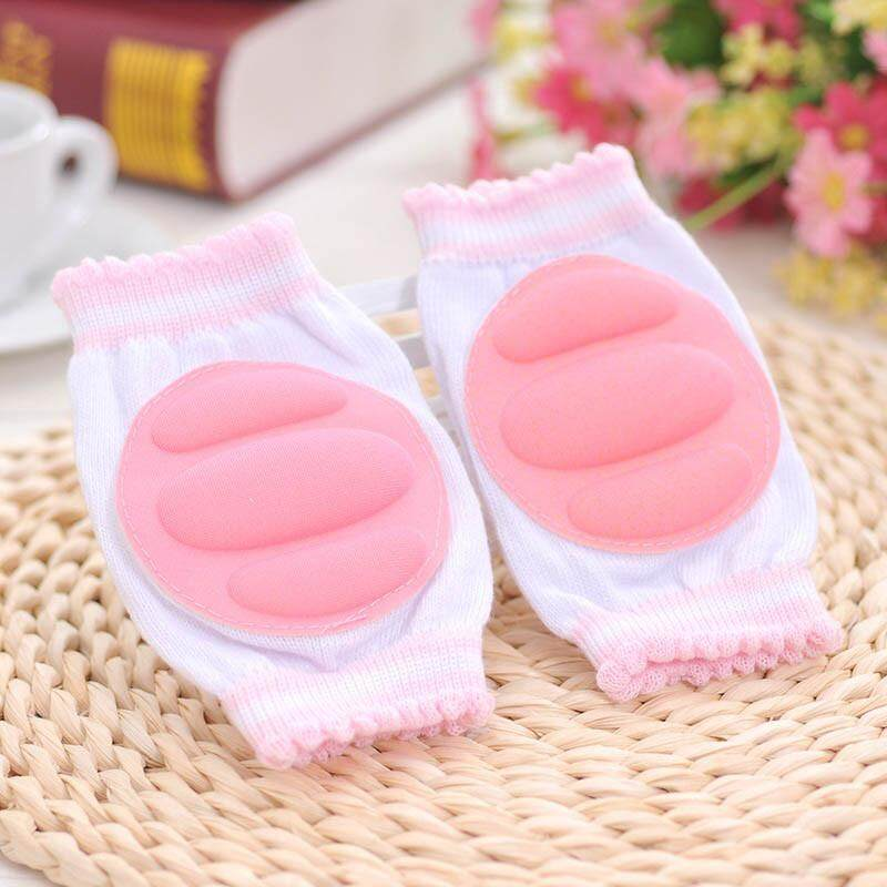 1Pair Baby Knee Pads Crawling Elbow Cushion Baby Childish Knee Protector Pink