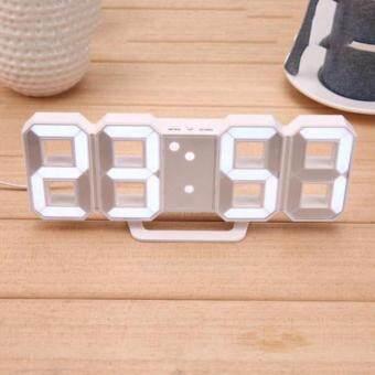 24 / 12 Hours Display 3D Number LED Digital Alarm Clocks Electronic Desk Clock