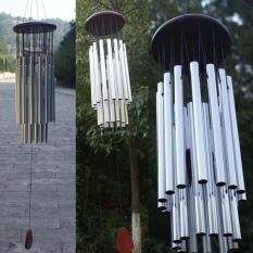 Hình ảnh 27 Tubes Silver Tube Church Wind Chimes Outdoor Bells Hanging Decorations