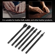 Japanese Black Slotted Straight Flat Tip Punch Cut Leather Craft DIY Punch Tool