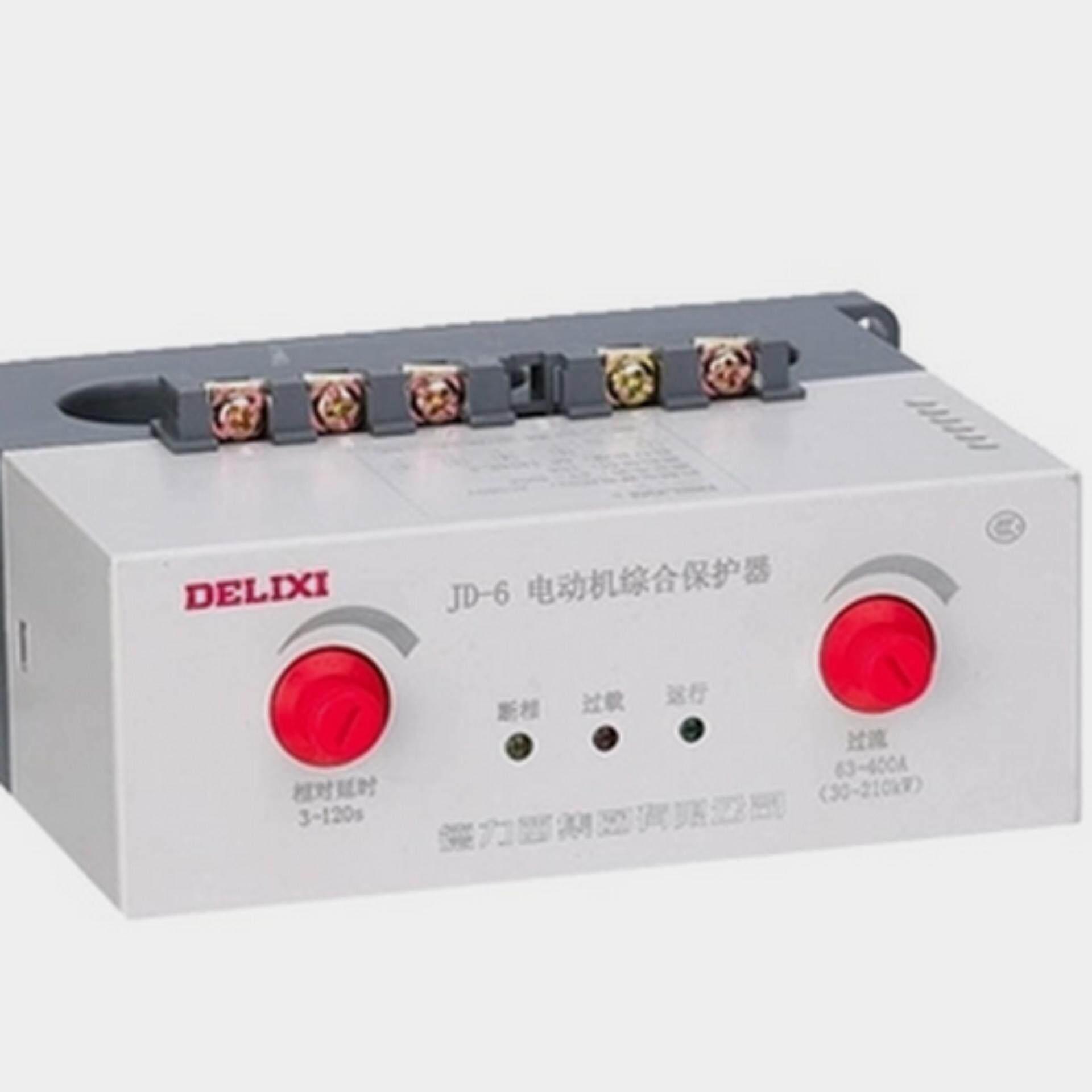 JD-6 63-400A AC380V Motor Pelindung Terpadu Perangkat untuk Alarm atau Perlindungan Operasi, Kesalahan Phase, overload Indikator Kesalahan Sirkuit Lampu dan Motor Kesalahan Fase, Overload, Blok Perlindungan Perpindahan Delixi-Internasional