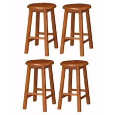 JFH Wooden Bar Stool (Low) Set Of 4