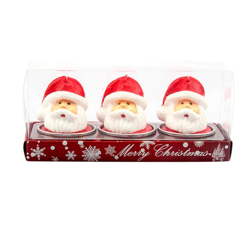 jiaxiang (Set of 3)Christmas Candles, Pawaca Flame Candle with Real Blaze - Elegant Gift Box - intl