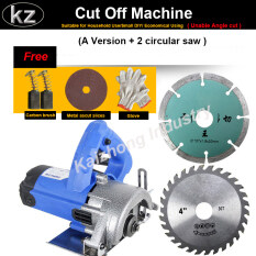 Kaizhong Cut Off Machine A version + 2 Circular Saw 1200W Household Multifunctional Wood Cutting Machine Stone Marble Tiles Machine Chainsaw Cutting Saw Power Slotting Machine