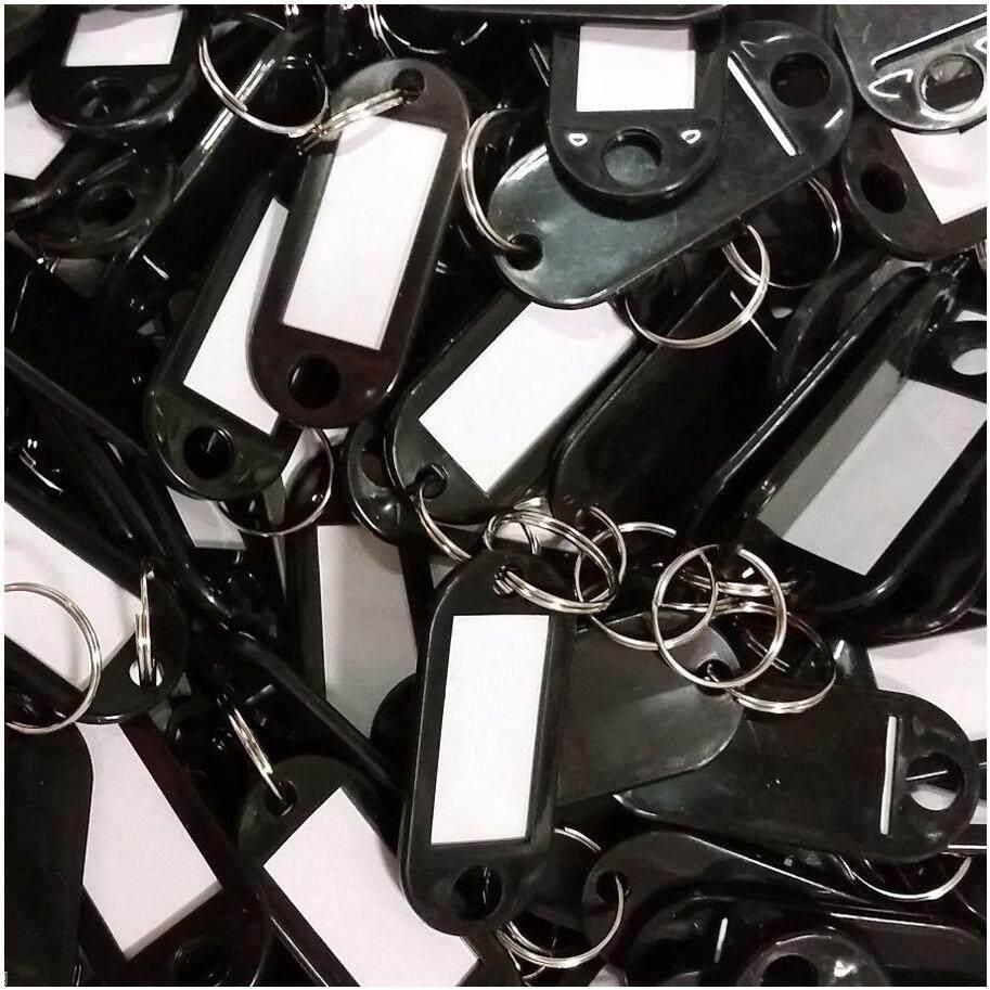 พวงกุญแจแท็ก (100 ชิ้นสีดำ) - นานาชาติ By Superbuy888.