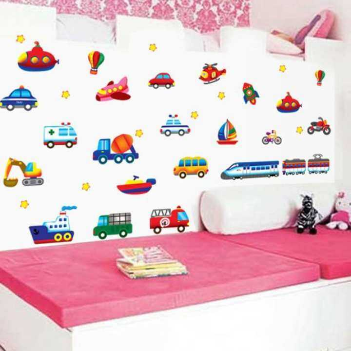 Kids Cartoon DIY Vinyl Wall Stickers Home Decor 3D Wallpaper Decoration