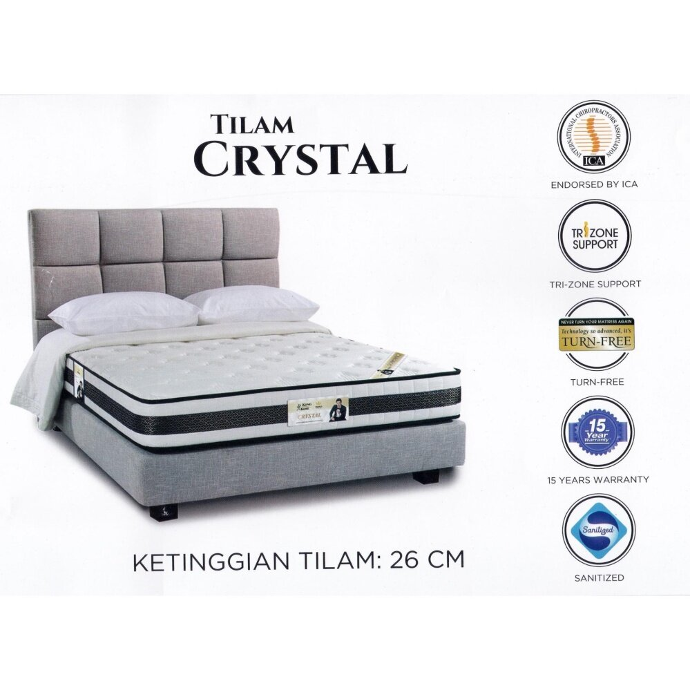 King Koil Prince Collection CRYSTAL 10 Inches Chiropractic Coil Spring Mattress Tilam With 15 Years Warranty Fattah Amin Duta King Koil