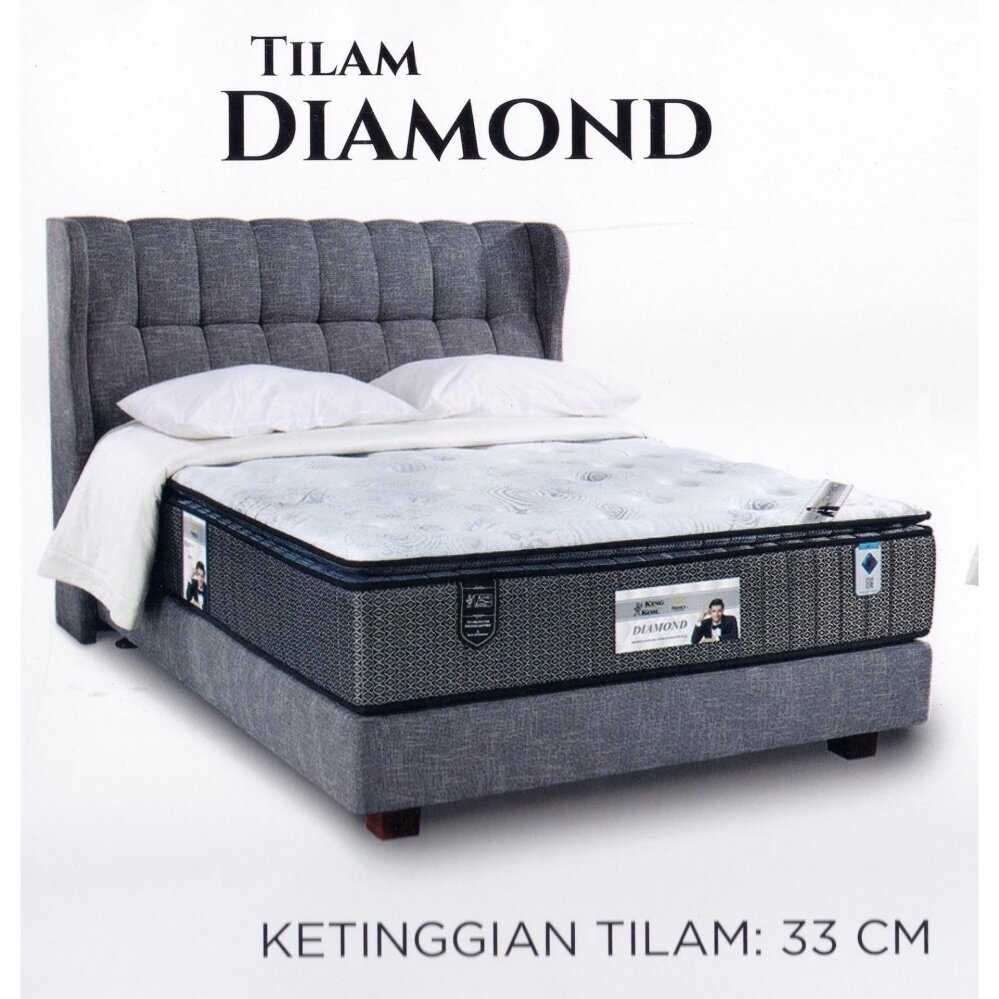 King Koil Prince Collection DIAMOND 13 Inches Pocketed Coil Spring Mattress Tilam With 15 Years Warranty Fattah Amin Duta King Koil