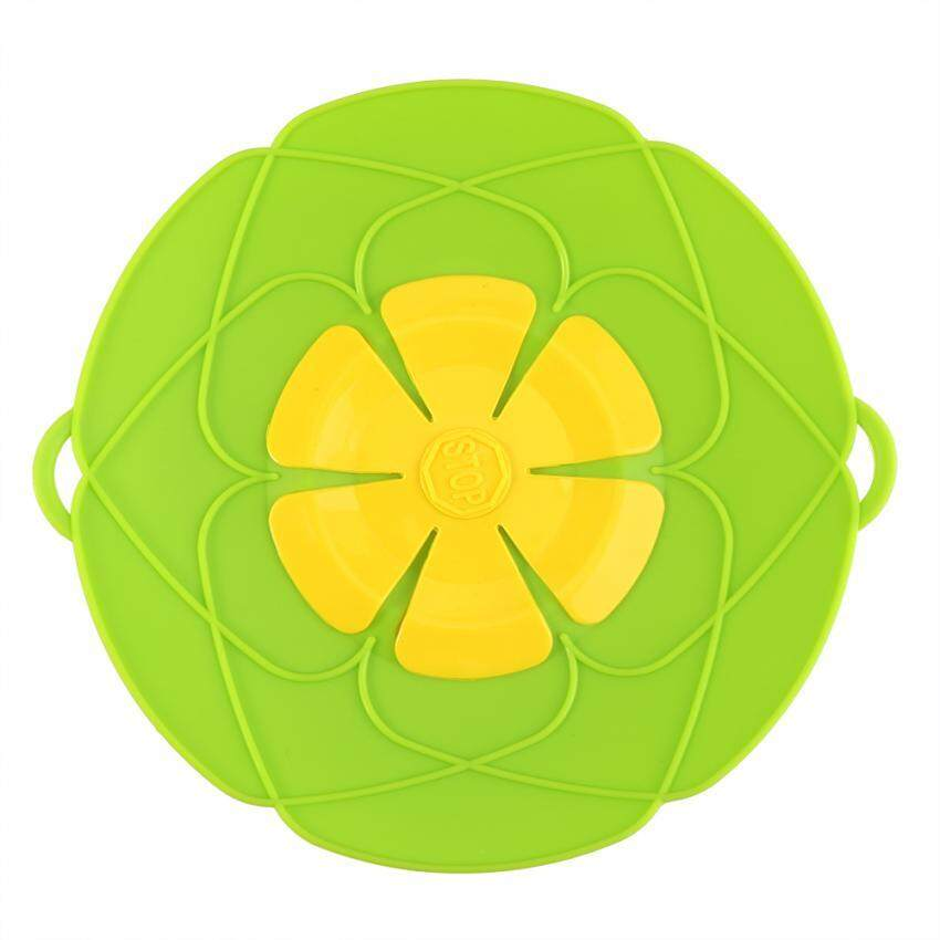 Kitchen Cooking Silicone Spill Stopper Lid Pan Pot Cover Overflows Boil Home Gadge Green