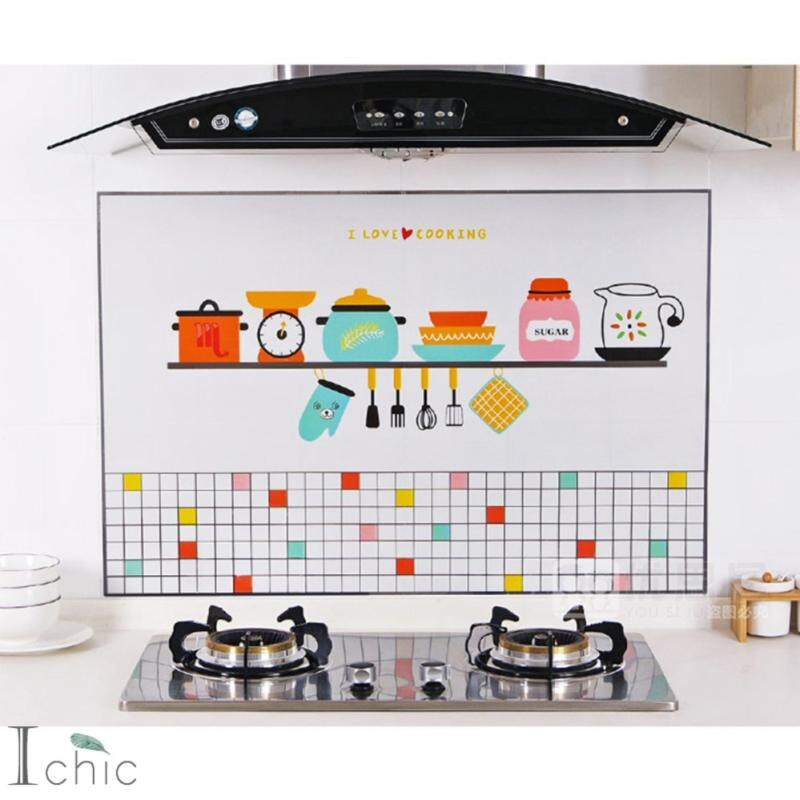 Yika Kitchen Self-Adhesive Waterproof Oil Proof Wall Sticker Anti-Oil Decoration Decal (