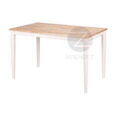 Kitchen Z Solid Wood Dining Table 254RND(120x75)-N+WHT - 120 x 75 cm