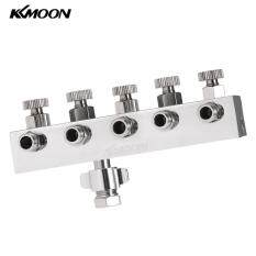 KKmoom High-quality 5-Way Airbrush Air Hose Splitter With Regulated Metering Manifold & 1/4 BSP Female Inlet + 1/8 BSP Male Air Outlet