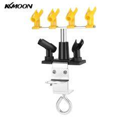KKmoom Professional Clamp-on Airbrush Holder Hold 6 Mount Spray abletop Bench Station Stand Kit for Airbrush 360�Swivel