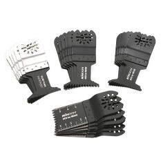 KKmoon 24pcs Oscillating Multi Tool Saw Blade Kit Blades for Dremel Fein Multimaster Makita Bosch Rockwell