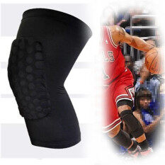 Knee Pad Protector Leg Patella Calf Support Guard Sleeve Brace Sports Basketball (Black) M