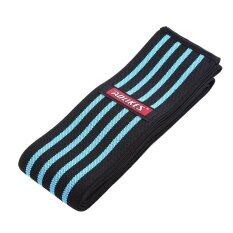 Knee Wraps Weightlifting Bandage Strap Guard Wrap Stabilizer (Blue) - Intl