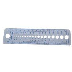 Mua Knitting Needle Gauge Inch cm Ruler Tool 2-10mm Grey - intl