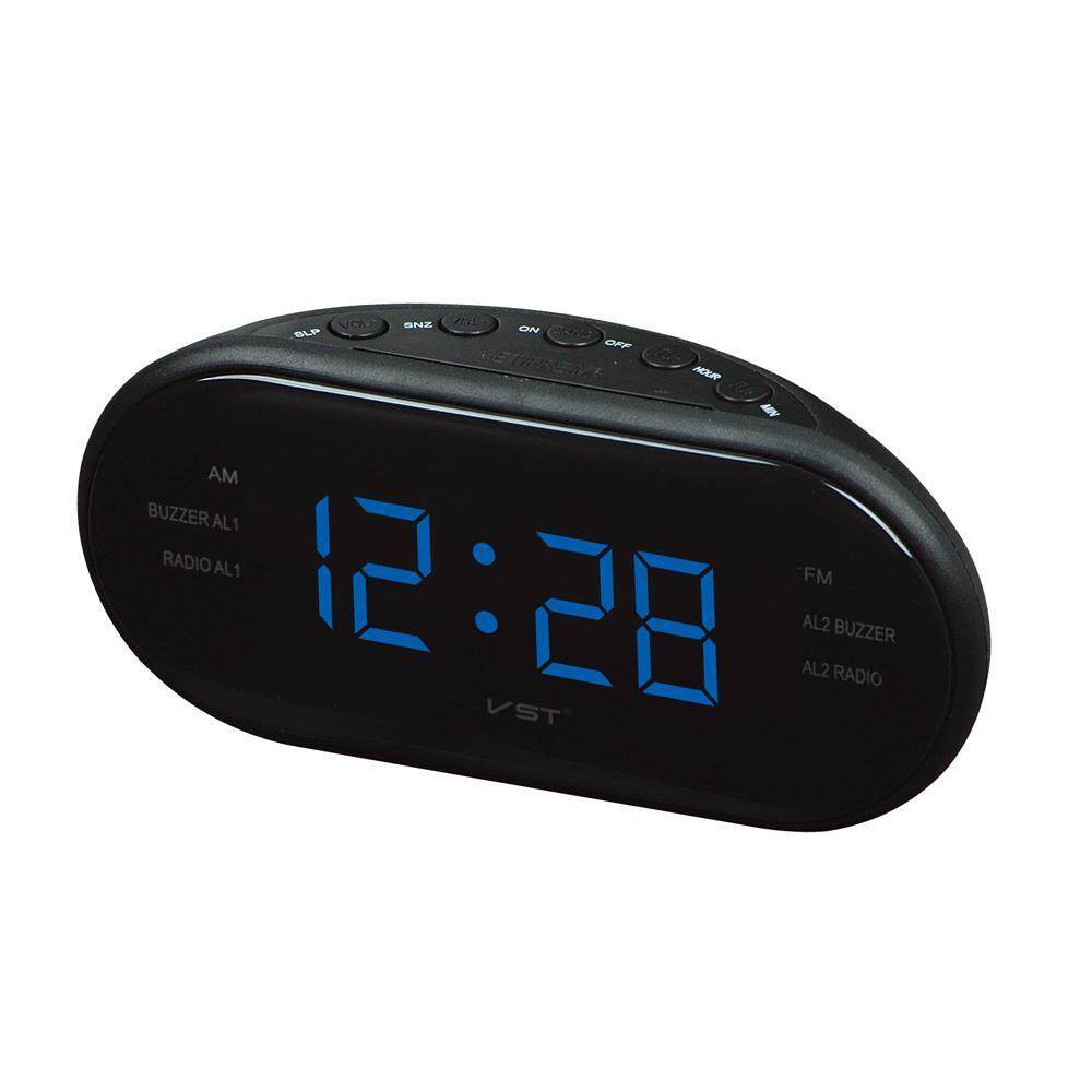 Buy Kobwa 1 2 Inch Led Number Display Dual Alarms Clock Am Fm Digital Tuning Radio With Station Memory Auto Channel Search Sleep Timer And Snooze Function Eu Plug Intl