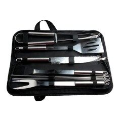 Bbq Grill Tools Set,stainless Steel Utensils With Aluminium Case 9 Barbecue Accessories Includes Thermometer And Grill Mats By Aolvo.