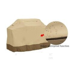 Waterproof Rainproof Durable BBQ Grill Cover Anti Dust Cover Gas Barbecue Heavy Duty Protector,Beige,163*61*122
