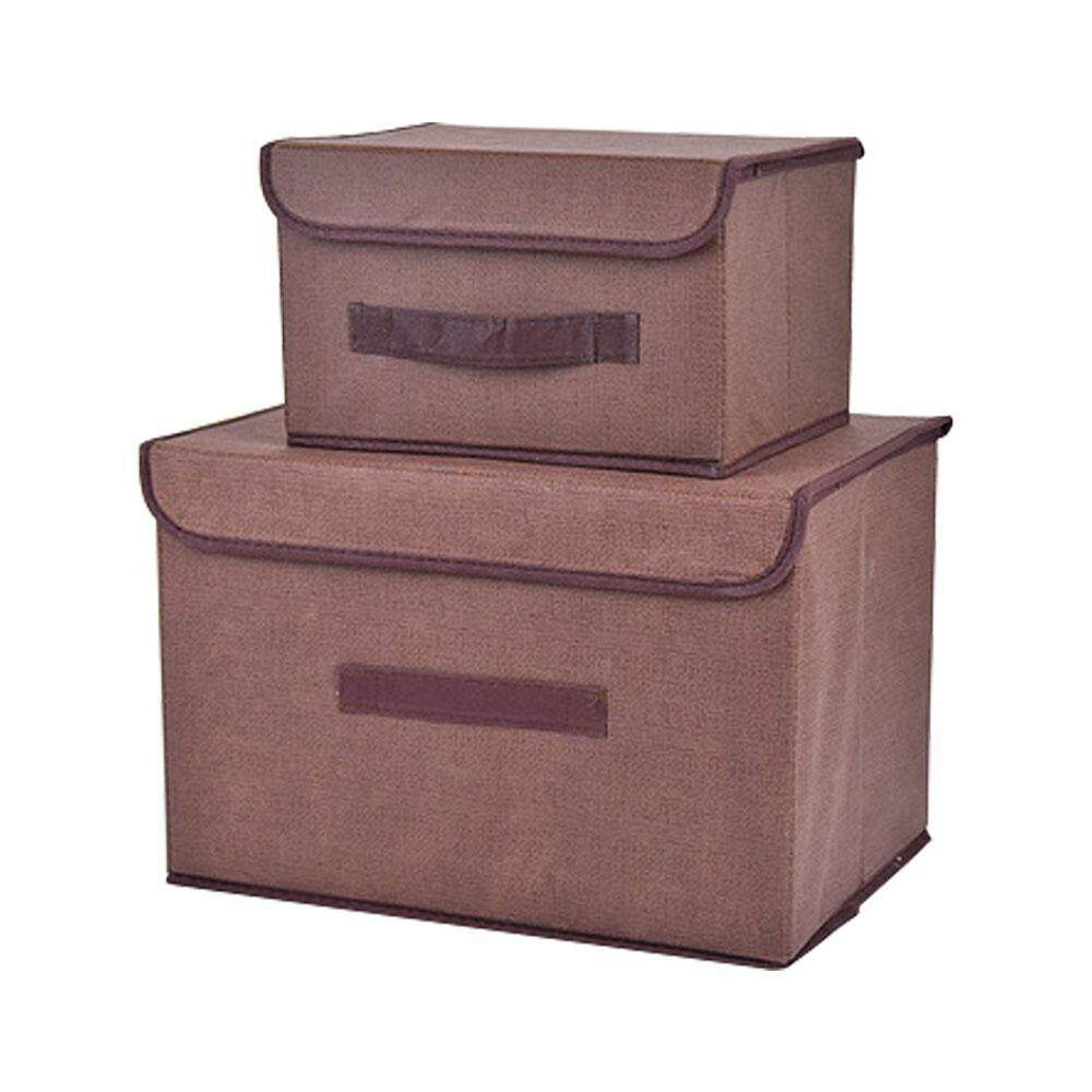 kookvbs Office and Home Essentials Fabric Storage Box with Lids Large Foldable Storage Box with Lid Basket Bin Container - intl