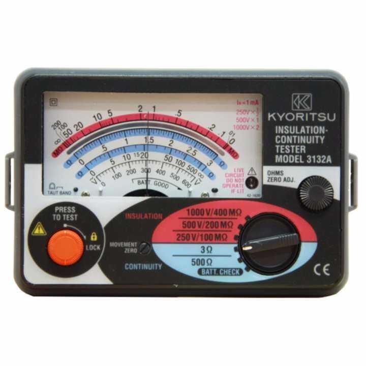 Kyoritsu 3132a Analogue Insulation Continuity Tester