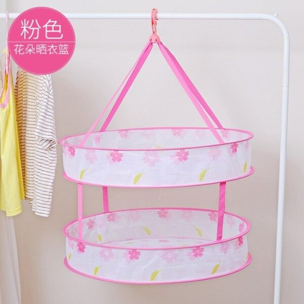 Large Folding Windproof Clothing Basket [Printed Double Deck]