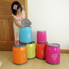 Large Size Push Cola Cans Garbage Can Basket Living Room Kitchen Garbage Can Trash Can Creative Plastic