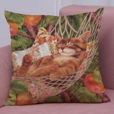 Latop Cute Cat Sofa Bed Home Decoration Festival Pillow Case Cushion Cover By Latop.