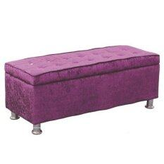 LAVIN FABRIC STORAGE BENCH PURPLE