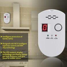 LCD LPG LNG Coal Natural Gas Leak Security Alarm Sensor Warning Detector (US plug)