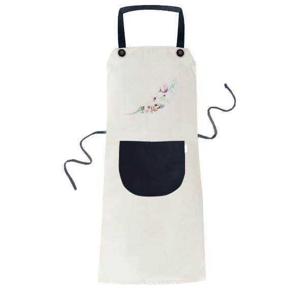 Daun Api Balon Topi Kamera Cat Air Lukisan Memasak Dapur Krem Dapat Disesuaikan Bib Celemek Saku Wanita Pria Chef Hadiah-Internasional