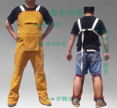 Cowhide Electric Welding Legs Apron Fire Prevention Flowers Wear-Resistant Insulated Electric Welding Service inside out Welder Service Welder Supplies