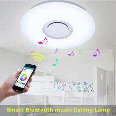 【Flash Deal】 LED Bluetooth Music Speaker Modern Ceiling Down Light Lamp Flush Mount Fixture